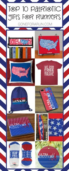 Get in the spirit for the 4th of July with our top 10 patriotic gift ideas, perfect for any runner!  @goneforarun.com