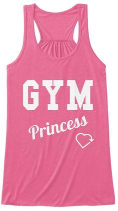 Gym Princess Neon Pink T-Shirt Front