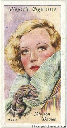 Marion Davies ~ 1934 Player's Cigarettes Film Stars, Card #14, Second Series on Immortal Ephemera...