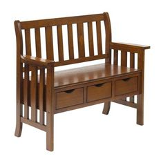 Worldwide Home Furnishings 401-389 Entryway Bench with 3 Drawers