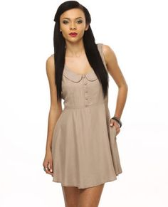 Picnic Date Taupe Dress