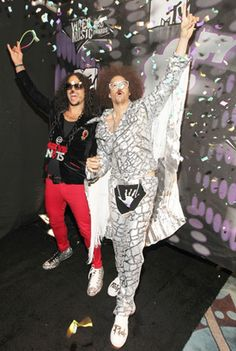 LMFAO's Sky Blu and Redfoo Make an Entrance at the 2011 MTV Video Music Awards, 2011http://bit.ly/wc9Soe