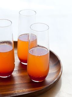 Spiced Blood Orange Champagne Punch / 21 Big-Batch Cocktails To Get Your Family Drunk On Thanksgiving via BuzzFeed