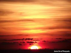 Summer sunset at sea.