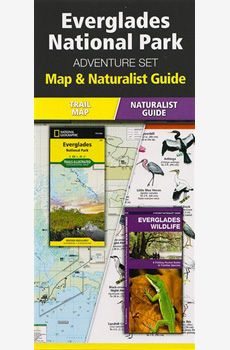 A beautiful, precise National Geographic recreation map of the Everglades National Park, printed on waterproof material, plus an excellent Naturalist Guide with accurate drawings of local species, for identification and the pleasure of discovery of visitors of all ages.