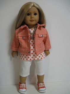 American Girl Doll Orange Sherbet by 123MULBERRYSTREET on Etsy