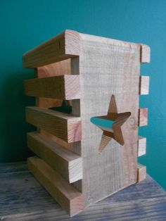 Beautiful Handmade Star Lantern Made from Reclaimed Pallet Wood