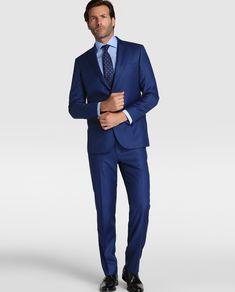 Mirto Traje de hombre regular liso azul Trajes,chalecos mirto comprar,mirto pijamas outlet,Nuevo estilo