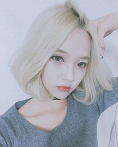 Image result for white hair Korean girl