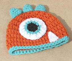 Newborn Crochet Monster Hat. $18.00, via Etsy. with another tooth for the craft show