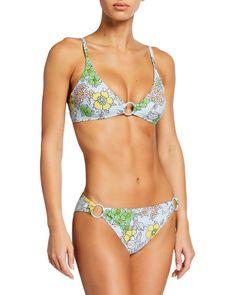 Floral Bikini Set, Cute Bathing Suits, Summer Bikinis, Designer Swimwear, Hipster Fashion, Bikini Fashion, Bikini Tops, Tory Burch, Swimsuits