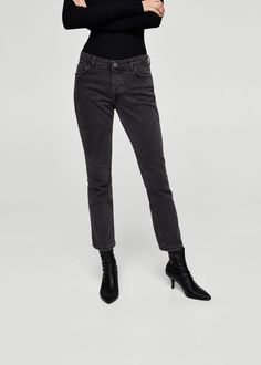 Straight jeans in 7/8-länge jandri - f füStraight leg Damen   MANGO Deutschland