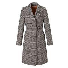Mantel, Riegelverschluss, Klappentaschen, gerade geschnitten, edel Vorderansicht