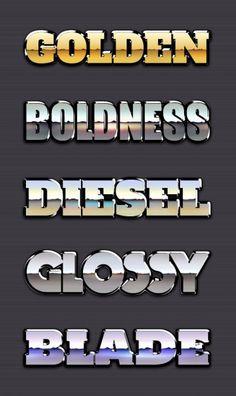 Metallic text styles