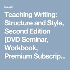 teaching writing structure and style pdf