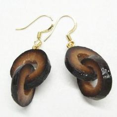 Black Olive Earrings by Hatanaka
