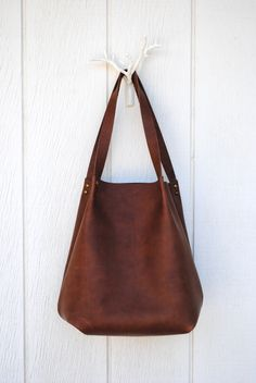 Pennyroyal Design leather carryall bucket tote - made from Horween leather!