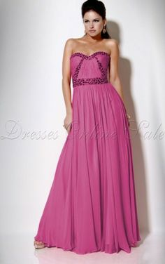 Fuchsia A-line Floor-length Sweetheart Dress Shop Online - 4p89 - skucolorchan90701