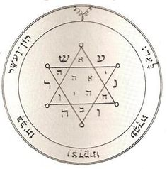 : Second Pentacle of Jupiter - The Magical Seal for acquiring glory,honors, riches, & tranquility of mind. Magic Symbols, Symbols And Meanings, Pentacle, King Solomon Seals, Cultura Judaica, Witch Coven, Solomons Seal, Solomons Temple, Cellos