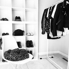 OVRSLO's minimal closet. #ovrslo #wardrobe #minimal