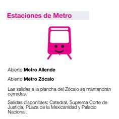 Estaciones de Metro.