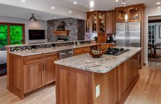 Kitchen cabinets laminate refacing ideas for 2019 Cherry Wood Kitchen Cabinets, Cherry Wood Kitchens, Kitchen Island Decor, Laundry Room Cabinets, Cherry Kitchen, Grey Kitchens, Kitchen Nook, Kitchen Paint, New Kitchen