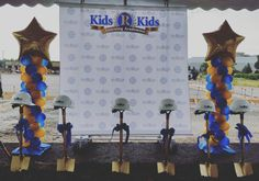 Balloons Columns for Kids R Kids Ground breaking ceremony by Jazzie Occasions LLC