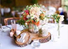 rustic wedding decorations diy style, crafts, design d cor, My mum used to have some of these old wood cuts to place hot pots on them With some imagination they make a fascinating reception table centrepiece