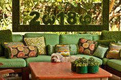 all the crazy colors. Spring Green: Outdoor Pillows on HauteLook Outdoor Spaces, Outdoor Living, Build Your House, Landscaping Supplies, Patio Pillows, Crazy Colour, Spring Green, Decoration, Garden Inspiration