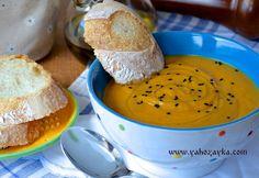 Морковный суп-пюре с белой фасолью. Суп пюре с овощами и травами