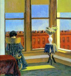 Edward Hopper - Room in Brooklyn, 1932 Boston Museum of Fine Art American Realism, American Artists, Johannes Vermeer, Edouard Hopper, Edward Hopper Paintings, Felix Vallotton, Ashcan School, Morning Sun, Comic Art