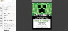 edit the invite in picmonkey