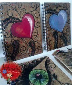 Libretas Artesanales, pintado a mano forma francesa