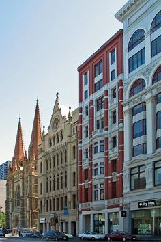 Flinders Street was and is an amazing collection of architectural styles - Melbourne