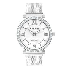 Silver tone watch with mesh strap and white face Gold Watch, Fashion Accessories, Mesh, Watches, Face, Shopping, Silver, Wristwatches, Clocks