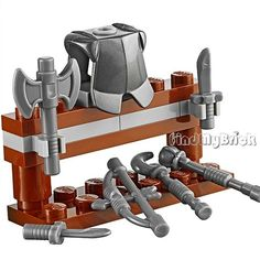 Lego Kingdoms Castle Armor Stand with Armor & 6 Weapons