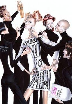 fashion illustration, fashion, illustration, elena arturo, fashion week by Giulia Gray