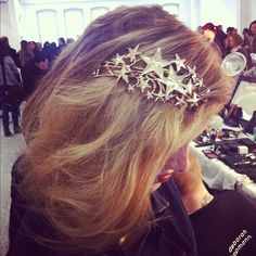 Loving these star clips adorning the models' hair at Rodarte! (via style.com)