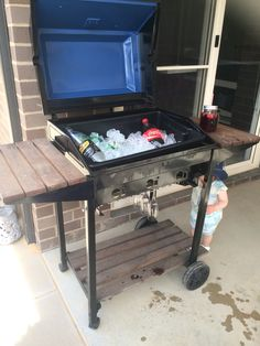 BBQ makeover. Drinks trolley.