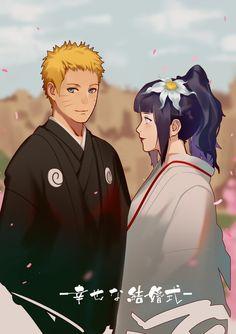 Naruto Don't ship these two. Or anyone in naruto for that matter but hinata looks gorgeous here. Naruhina, Naruto Uzumaki, Hinata Hyuga, Gaara, Anime Naruto, Kid Naruto, Naruto Family, Sarada Uchiha, Naruto Cute