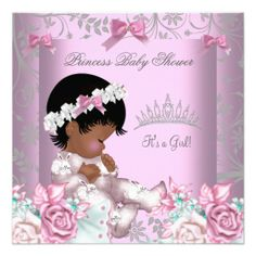 african american baby shower blue gold boy prince invitations, Baby shower invitations