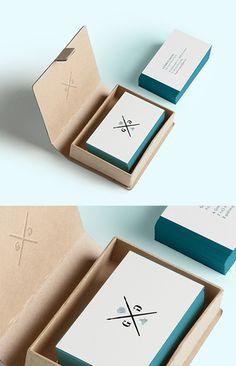 Beautiful Minimalist Design Edge Painted Letterpress Business Cards For A Watercolourist