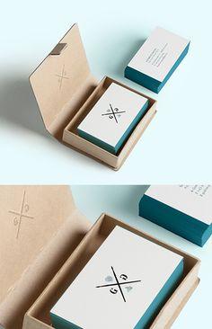 Beautiful Minimalist Design Edge Painted Letterpress Business Cards For A Watercolourist