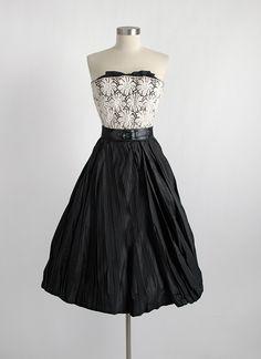 1950s couture Hattie Carnegie Custom Made cocktail dress hemlockvintage.com