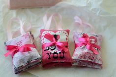 This set of 2 I Love You Lavender Hanger Sachets with their Pretty & Pink romantic hearts fabric are made to fit over your clothes hangers and come bundled together with satin ribbon. They are about 3 x 3-1/2 and are filled with soothing lavender buds. They can be slipped over your clothes hangers or placed in a drawer to give you a subtle whiff of relaxing lavender. Your gift will be delightfully received wrapped in tissue paper with a satin ribbon. These Pretty & Pink Hanger sachets come…