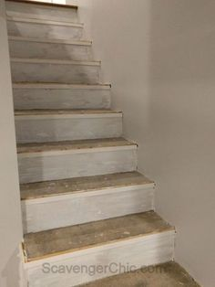 Have you ever dreamt of having beautiful hardwood stairs but your stairs look something like this? Did you know that you do not have to rip out your old stairs? These were the stairs in my son's 1950's fixer upper. After months of renovation, after the carpeting was pulled upandasbestos tile was removed,thedrywall guys came and dripped spackle all over the stairs followed by layer upon layer ofsanded spackle dust capped off with paint drips.I thought…