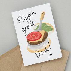 Father Birthday, Best Birthday Gifts, Funny Birthday Cards, Burger Puns, Funny Burger, How To Cook Burgers, Cooking Burgers, Dad Puns, Gift Maker