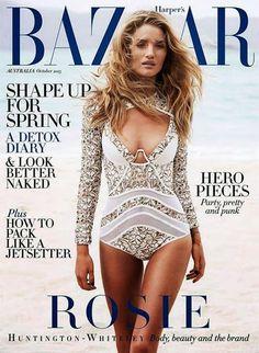 Harper's Bazaar Australia October 2013, Rosie Huntington-Whiteley
