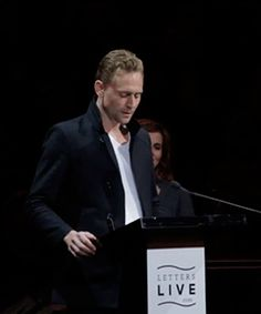 Tom Hiddleston at Letters Live on April 4, 2015 https://www.youtube.com/watch?v=G1890s8zs14