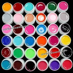 Wholesale 36 Color Solid Pure UV Builder Gel Acrylic Nail Art Tips Beauty Kit - EXCLUSIVE DEAL! BUY NOW ONLY $21.99